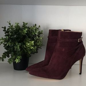 Burgundy  Suede Booties